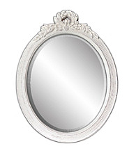 Sheffield Home® White Distressed Oval Mirror