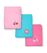 Green Sprouts® Girls' 3-pk. Muslin Square Burb Cloths