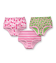 i play.® Girls' Pink/Green 3-pk. Assorted Print Panties