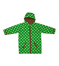 i play.® Boys' 6M-3T Green Hedgehogs Midweight Raincoat