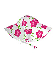 i play.® Girls' White Blossom Floppy Brim Sun Protection Hat