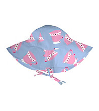 i play.® Girls' Light Blue Teacup Floppy Brim Sun Protection Hat
