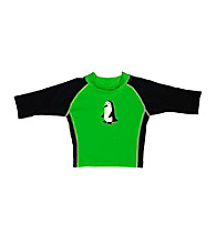 i play.® Boys' Green Penguin 3-Quarter Sleeve Rashguard