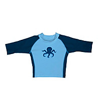 i play.® Boys' Light Blue Octopus 3-Quarter Sleeve Rashguard