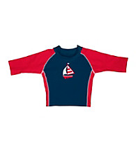 i play.® Boys' Navy Sailboat 3-Quarter Sleeve Rashguard