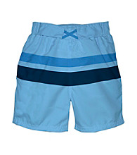 i play.® Boys' Light Blue/Navy Ultimate Swim Diaper Block Boardshorts