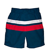 i play.® Boys' Navy/Red Ultimate Swim Diaper Block Boardshorts