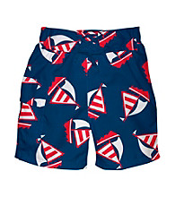 i play.® Boys' Navy Blue Sailboat Ultimate Swim Diaper Pocket Trunks