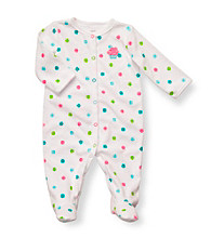 Carter's® Baby Girls' White Multi Dot Terry Cupcake Footie
