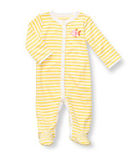 Carter's® Baby Girls' Yellow Striped Terry Fish Footie