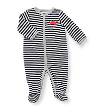 Carter's® Baby Boys' Navy Striped Terry Crab Footie