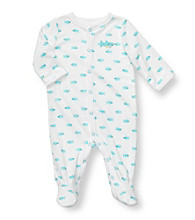Carter's® Baby Boys' White Terry Whale Print Footie