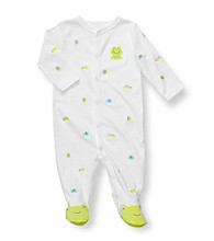 Carter's® Baby Boys' White Cotton Frog Schiffli Footie