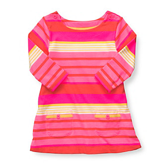 Carter's® Girls' 2T-4T Pink Striped 3/4 Sleeve Knit Tunic
