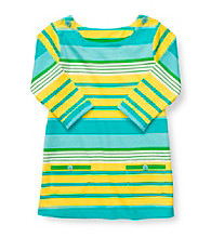 Carter's® Girls' 2T-4T Blue/Yellow Striped 3/4 Sleeve Knit Tunic