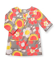 Carter's® Girls' 2T-4T Grey Floral 3/4 Sleeve Woven Tunic