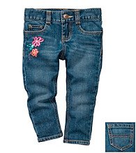 OshKosh B'Gosh® Girls' 2T-4T Floral Fashion Skinny Jeans
