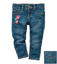 OshKosh B'Gosh® Girls' 4-6X Floral Fashion Skinny Jeans