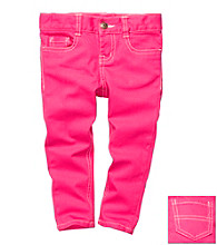 OshKosh B'Gosh® Girls' 4-6X Pink Stretch Twill Pants