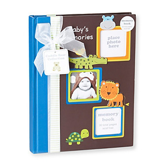 Cuddle Bear® Boys' Blue Jungle Memory Book