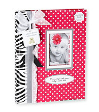 Cuddle Bear® Girls' Pink Zebra Memory Book