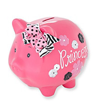 Cuddle Bear® Girls' Pink Princess Piggy Bank