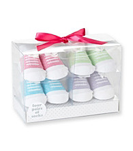 Cuddle Bear® Baby Girls' 4-pk. Bright Sneaker Socks
