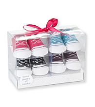 Cuddle Bear® Baby Girls' Assorted 4-pk. Sneaker Socks