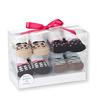 Cuddle Bear® Baby Girls' Assorted 4-pk. Animal/Houndstooth/Dot Socks