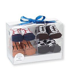 Cuddle Bear® Baby Boys' 4-pk. Sports Socks
