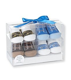 Cuddle Bear® Baby Boys' Assorted 4-pk. Camo/Sneaker Socks