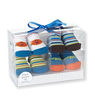 Cuddle Bear® Baby Boys' 4-pk. Animal/Striped Socks