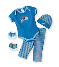 Cuddle Bear® Baby Boys' Blue 5-pc. Jungle Layette Set