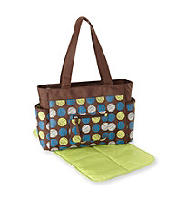Cuddle Bear® Baby Boys' Brown Multi Dot Diaper Bag