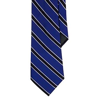 Lauren Ralph Lauren Men's Purple Repp Stripe Necktie