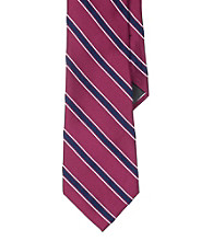 Lauren® Men's Pink Repp Stripe Necktie