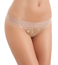 b.tempt'd® by Wacoal® Bel Fiore Thong - Au Natural Vanilla Ice Dot