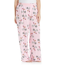HUE® Plus Size Doxie Delight Knit Pants - Prism Pink