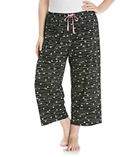 HUE® Black Plus Size Stroke of Love Knit Pants