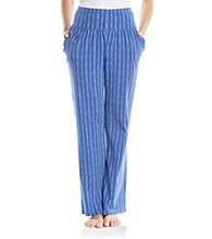 Zoe & Bella @ BT Diamond Stripe Ruffle Pocket Knit Pants