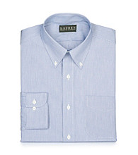 Lauren® Men's Blue and White Striped Button Down Dress Shirt
