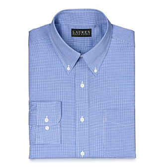 Lauren Ralph Lauren Men's Blue/White Gingham Dress Shirt