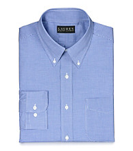 Lauren® Men's Blue and White Gingham Button Down Dress Shirt