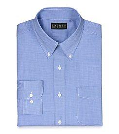 Lauren Ralph Lauren Men's Blue/White Gingham Dress Shirt