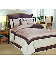 Polka Dot 8-pc. Comforter Set by Phoenix Home Fashions