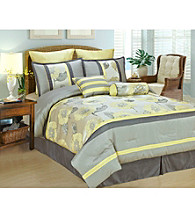 Peony 8-pc. Comforter Set by Phoenix Home Fashions