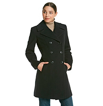Anne Klein® Double-Breasted Walker with Seaming