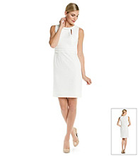 Tahari by Arthur S. Levine® Pearl Neckline Sheath Dress