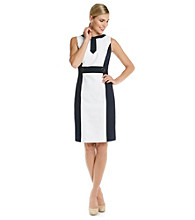 Tahari by Arthur S. Levine® Jacquard Colorblock Sheath Dress