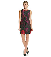 Tahari by Arthur S. Levine® Jacquard Floral Sheath Dress